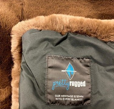 Pretty Rugged Original Blanket Chocolate Brown Mink